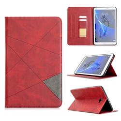 Binfen Color Prismatic Slim Magnetic Sucking Stitching Wallet Flip Cover for Samsung Galaxy Tab A 10.1 T580 T585 - Red