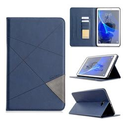 Binfen Color Prismatic Slim Magnetic Sucking Stitching Wallet Flip Cover for Samsung Galaxy Tab A 10.1 T580 T585 - Blue