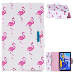 Red Flamingo Folio Flip Stand Leather Wallet Case for Samsung Galaxy Tab A 10.5 T590 T595