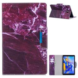 Red Marble Folio Flip Stand Leather Wallet Case for Samsung Galaxy Tab A 10.5 T590 T595