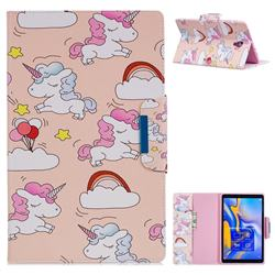 Cloud Unicorn Folio Flip Stand Leather Wallet Case for Samsung Galaxy Tab A 10.5 T590 T595