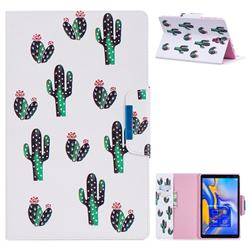 Cactus Folio Flip Stand Leather Wallet Case for Samsung Galaxy Tab A 10.5 T590 T595