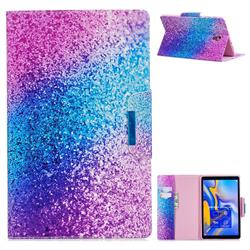 Rainbow Sand Folio Flip Stand Leather Wallet Case for Samsung Galaxy Tab A 10.5 T590 T595