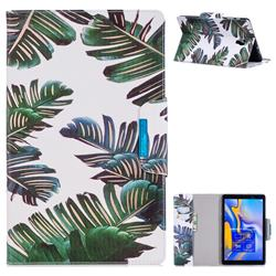 Green Leaves Folio Flip Stand Leather Wallet Case for Samsung Galaxy Tab A 10.5 T590 T595