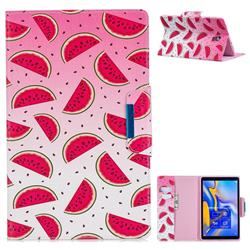 Watermelon Folio Flip Stand Leather Wallet Case for Samsung Galaxy Tab A 10.5 T590 T595