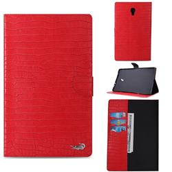 Retro Crocodile Tablet Leather Wallet Flip Cover for Samsung Galaxy Tab A 10.5 T590 T595 - Red