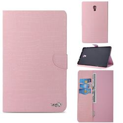 Retro Crocodile Tablet Leather Wallet Flip Cover for Samsung Galaxy Tab A 10.5 T590 T595 - Pink
