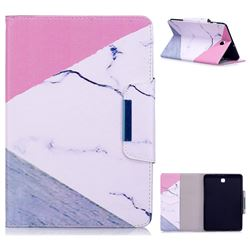 Triangle Marble Folio Flip Stand Leather Wallet Case for Samsung Galaxy Tab S2 8.0 T710 T715 T719