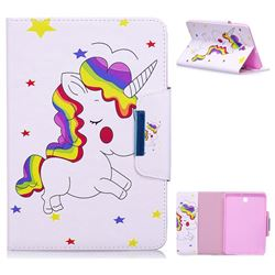 Rainbow Unicorn Folio Flip Stand Leather Wallet Case for Samsung Galaxy Tab S2 8.0 T710 T715 T719