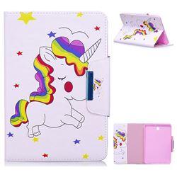 Rainbow Unicorn Folio Flip Stand Leather Wallet Case for Samsung Galaxy Tab S2 8.0 T710 T715 T719