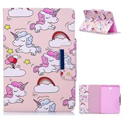 Cloud Unicorn Folio Flip Stand Leather Wallet Case for Samsung Galaxy Tab S2 8.0 T710 T715 T719
