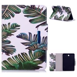 Green Leaves Folio Flip Stand Leather Wallet Case for Samsung Galaxy Tab S2 8.0 T710 T715 T719