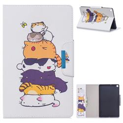 Casing kittens Folio Flip Stand Leather Wallet Case for Samsung Galaxy Tab S5e 10.5 T720 T725