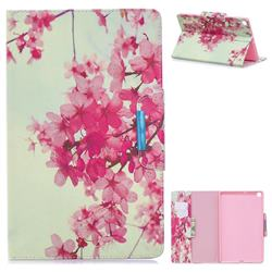 Cherry Blossoms Folio Flip Stand Leather Wallet Case for Samsung Galaxy Tab S5e 10.5 T720 T725