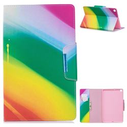 Rainbow Folio Flip Stand Leather Wallet Case for Samsung Galaxy Tab S5e 10.5 T720 T725