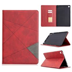 Binfen Color Prismatic Slim Magnetic Sucking Stitching Wallet Flip Cover for Samsung Galaxy Tab S5e 10.5 T720 T725 - Red