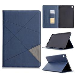Binfen Color Prismatic Slim Magnetic Sucking Stitching Wallet Flip Cover for Samsung Galaxy Tab S5e 10.5 T720 T725 - Blue