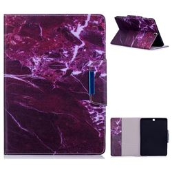 Red Marble Folio Flip Stand Leather Wallet Case for Samsung Galaxy Tab S2 9.7 T810 T815 T819