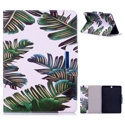Green Leaves Folio Flip Stand Leather Wallet Case for Samsung Galaxy Tab S2 9.7 T810 T815 T819