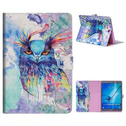Watercolor Owl 3D Painted Leather Tablet Wallet Case for Samsung Galaxy Tab S2 9.7 T810 T815 T819