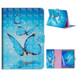 Blue Sea Butterflies 3D Painted Leather Tablet Wallet Case for Samsung Galaxy Tab S2 9.7 T810 T815 T819