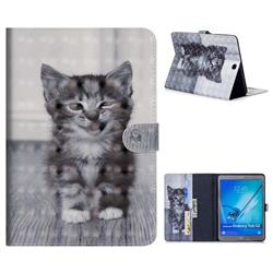 Smiling Cat 3D Painted Leather Tablet Wallet Case for Samsung Galaxy Tab S2 9.7 T810 T815 T819