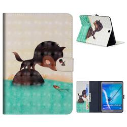 Fox Catching Fish 3D Painted Leather Tablet Wallet Case for Samsung Galaxy Tab S2 9.7 T810 T815 T819