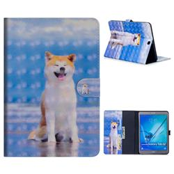 Smiley Shiba Inu 3D Painted Leather Tablet Wallet Case for Samsung Galaxy Tab S2 9.7 T810 T815 T819