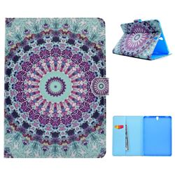 Mint Green Mandala Flower Folio Flip Stand Leather Wallet Case for Samsung Galaxy Tab S3 9.7 T820 T825