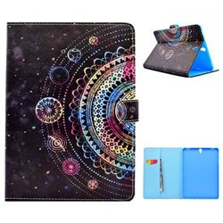 Universe Mandala Flower Folio Flip Stand Leather Wallet Case for Samsung Galaxy Tab S3 9.7 T820 T825