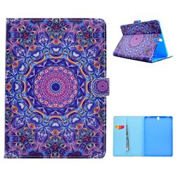 Purple Mandala Flower Folio Flip Stand Leather Wallet Case for Samsung Galaxy Tab S3 9.7 T820 T825