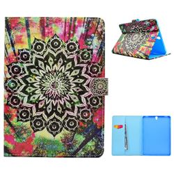 Colorful Mandala Flower Folio Flip Stand Leather Wallet Case for Samsung Galaxy Tab S3 9.7 T820 T825