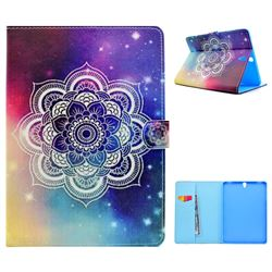 Sky Mandala Flower Folio Flip Stand Leather Wallet Case for Samsung Galaxy Tab S3 9.7 T820 T825