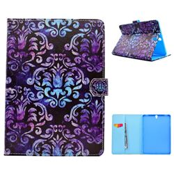 Royal Mandala Flower Folio Flip Stand Leather Wallet Case for Samsung Galaxy Tab S3 9.7 T820 T825