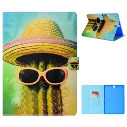 Fashion Cactus Folio Flip Stand Leather Wallet Tablet Case Cover for Samsung Galaxy Tab S3 9.7 T820 T825