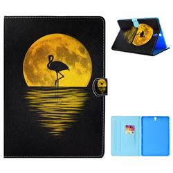 Sunset Flamingo Folio Flip Stand Leather Wallet Tablet Case Cover for Samsung Galaxy Tab S3 9.7 T820 T825