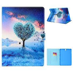 Ice World Life Tree Folio Flip Stand Leather Wallet Tablet Case Cover for Samsung Galaxy Tab S3 9.7 T820 T825