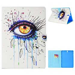 Painting Big Eye Folio Flip Stand Leather Wallet Tablet Case Cover for Samsung Galaxy Tab S3 9.7 T820 T825