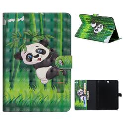 Climbing Bamboo Panda 3D Painted Leather Tablet Wallet Case for Samsung Galaxy Tab S3 9.7 T820 T825