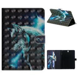 Snow Wolf 3D Painted Leather Tablet Wallet Case for Samsung Galaxy Tab S3 9.7 T820 T825