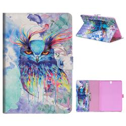 Watercolor Owl 3D Painted Leather Tablet Wallet Case for Samsung Galaxy Tab S3 9.7 T820 T825