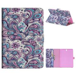 Swirl Flower 3D Painted Leather Tablet Wallet Case for Samsung Galaxy Tab S3 9.7 T820 T825