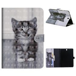 Smiling Cat 3D Painted Leather Tablet Wallet Case for Samsung Galaxy Tab S3 9.7 T820 T825
