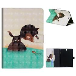 Fox Catching Fish 3D Painted Leather Tablet Wallet Case for Samsung Galaxy Tab S3 9.7 T820 T825