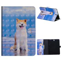 Smiley Shiba Inu 3D Painted Leather Tablet Wallet Case for Samsung Galaxy Tab S3 9.7 T820 T825
