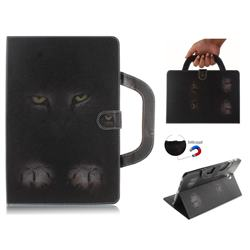 Mysterious Cat Handbag Tablet Leather Wallet Flip Cover for Samsung Galaxy Tab S4 10.5 T830 T835