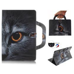 Cat Eye Handbag Tablet Leather Wallet Flip Cover for Samsung Galaxy Tab S4 10.5 T830 T835