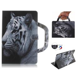 White Tiger Handbag Tablet Leather Wallet Flip Cover for Samsung Galaxy Tab S4 10.5 T830 T835