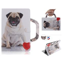 Pug Dog Handbag Tablet Leather Wallet Flip Cover for Samsung Galaxy Tab S4 10.5 T830 T835