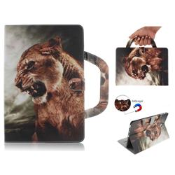 Majestic Lion Handbag Tablet Leather Wallet Flip Cover for Samsung Galaxy Tab S4 10.5 T830 T835